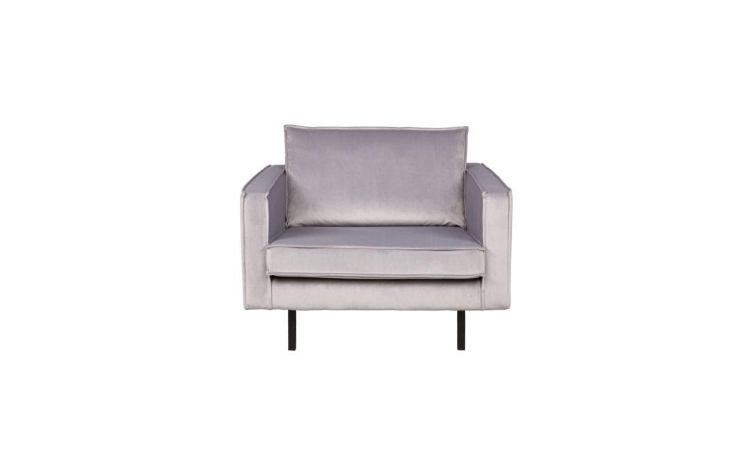 Rodeo fauteuil velvet lichtgrijs 149