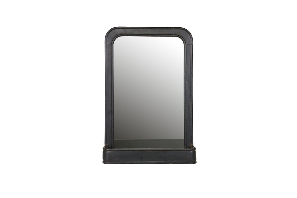 Be Pure Spiegel : Bepurehome speachless hangende spiegel planchet metaal zwart