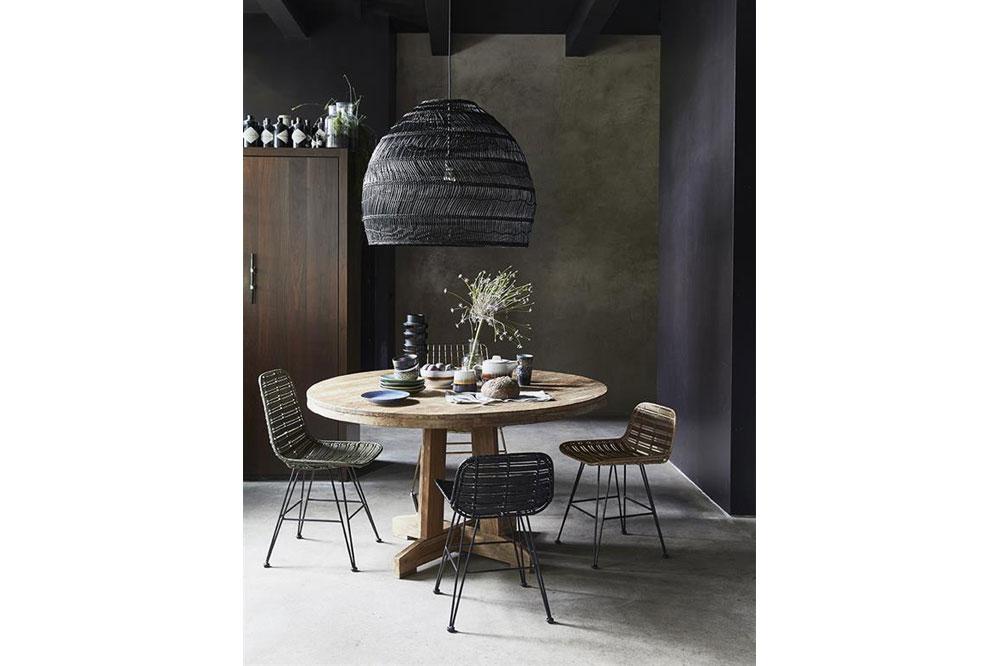 Hk Living Hanglampen : Hk living rieten hanglamp zwart 80cm what is hip
