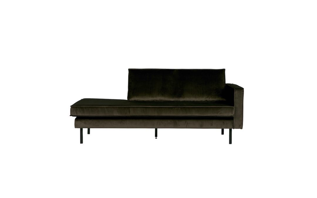 Rodeo Daybed Right Velvet Dark Green Hunter