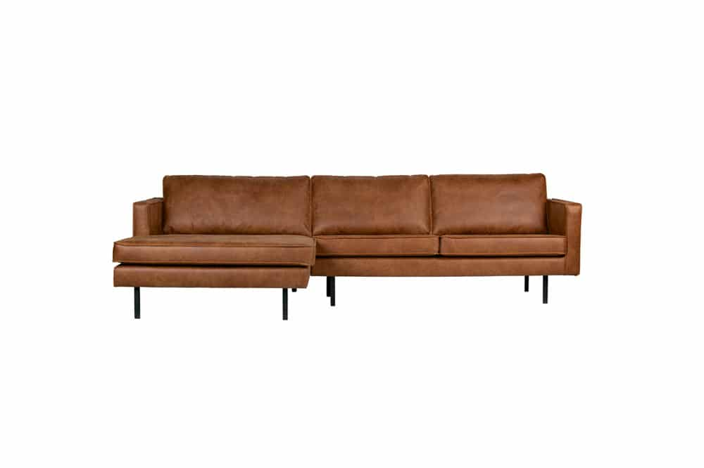 Rodeo chaise longue – links cognac