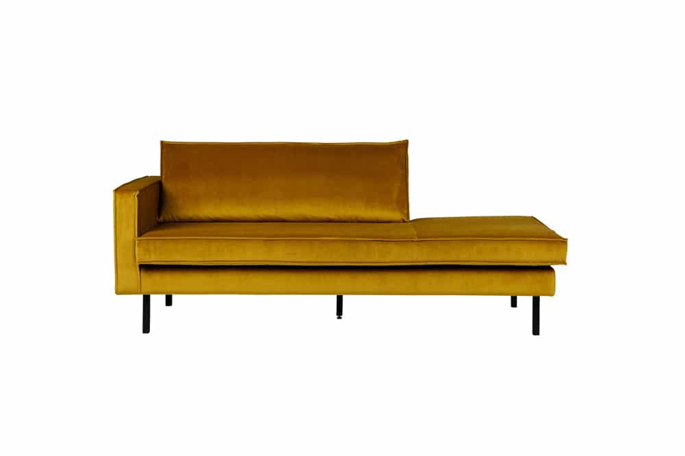 Rodeo Daybed Left Velvet Oker
