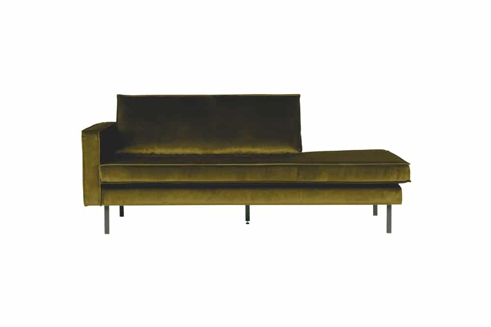 Rodeo Daybed Left Velvet Olive